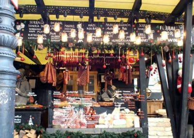 Christmas Market Food Booth