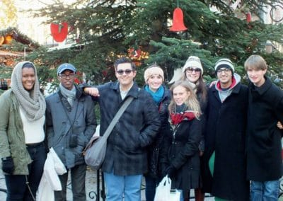 Team in Christmas Market
