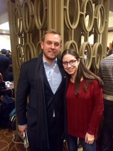 Abi (All-American 2015, Heschel School) and Program Director Frank Pobutkiewicz