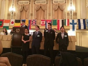 Two All-American alumni staffed MUNUC XXVIII, including Srikanth Krishnan, pictured above with the dais of INTERPOL.