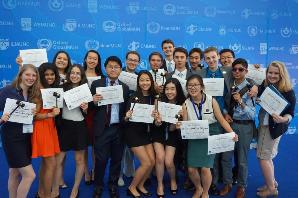 Summer 2015 started out with a Best Delegation award at the WEMUN Expo.