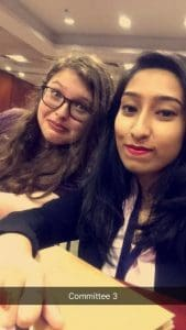 The delegate of Iran and I during a much-needed break.
