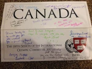 Definitely one of the nicest placard signings of my MUN career.