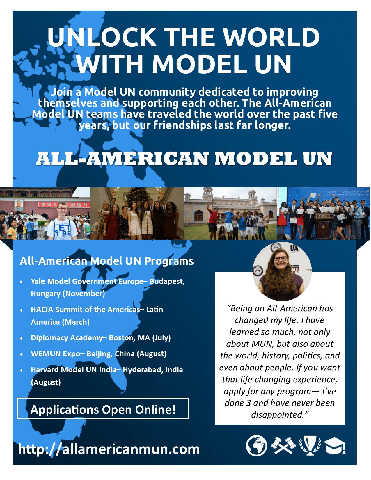Call for All-American Model UN Applications