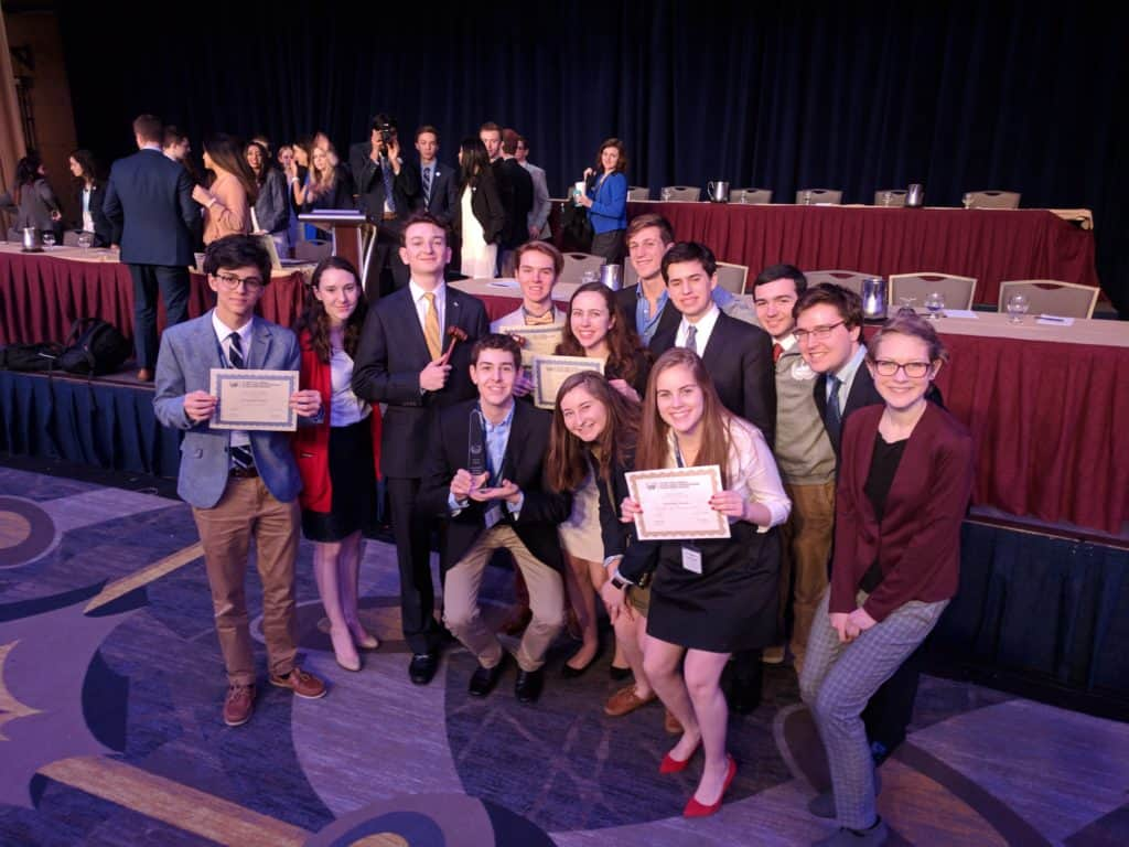 The 2018 Best Small Delegation at NAIMUN LV.